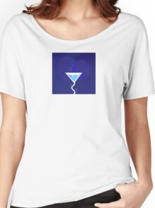 Party night: Martini alcohol tropical drink. Fresh martini drink stylized on dark blue background. Vector Illustration of party drink. Women's Relaxed Fit T-Shirt