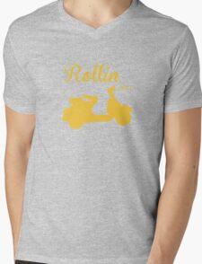 RETRO VESPA Mens V-Neck T-Shirt
