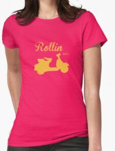 RETRO VESPA Womens Fitted T-Shirt
