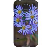 Deep Blue Leafy Aster Samsung Galaxy Case/Skin
