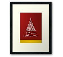 Christmas card design Framed Print