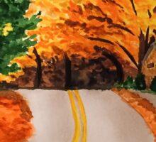 A New England Autumn Scene Sticker