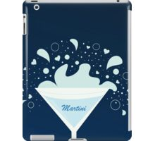 Martini drink in glass. Fresh martini drink on dark blue background iPad Case/Skin