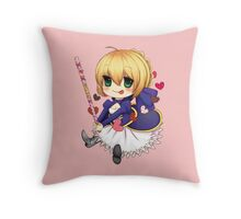 Saber - Fate Stay Night Throw Pillow