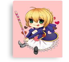 Saber - Fate Stay Night Canvas Print