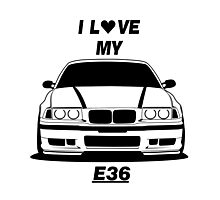 BMW E36 Photographic Print