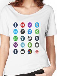 Social Media Women's Relaxed Fit T-Shirt
