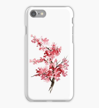 Flower Cherry Blossom Watercolor Painting Illustration Image Picture iPhone Case/Skin