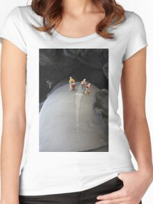 Band on the run...... Women's Fitted Scoop T-Shirt