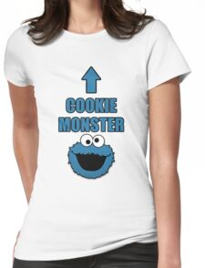 Cookie Monster Funny Shirt Womens Fitted T-Shirt
