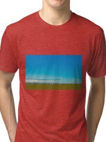 Cornish Windfarm Tri-blend T-Shirt