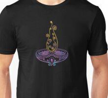 Diwali Elegant And Minimalistic Lamp Diya T-Shirt. Unisex T-Shirt