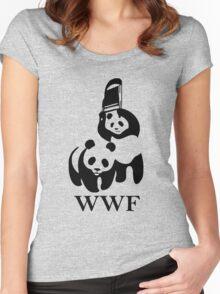 WWF Panda Parody Women's Fitted Scoop T-Shirt