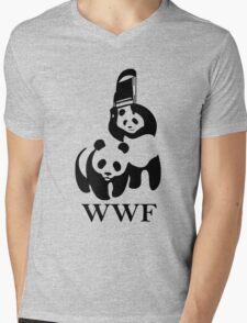 WWF Panda Parody Mens V-Neck T-Shirt