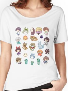 Studio Ghibli - Cartoon Duvets- Anime T-Shirts Women's Relaxed Fit T-Shirt