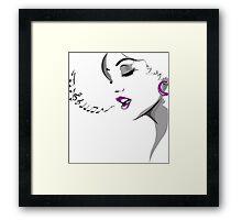 Girl Singing Framed Print