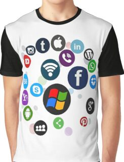 Funny Social Media Graphic T-Shirt