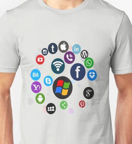 Funny Social Media Unisex T-Shirt