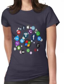 Funny Social Media Womens Fitted T-Shirt