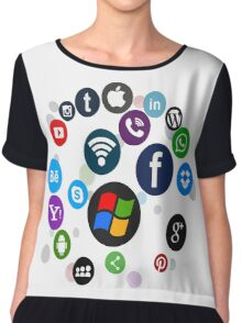 Funny Social Media Chiffon Top