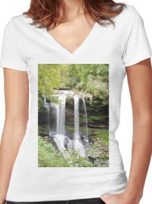 Dry Falls Women's Fitted V-Neck T-Shirt