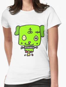 Zombie puppy Womens Fitted T-Shirt