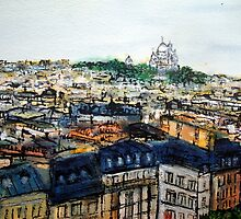 The Rooftops of Paris by JackieSherwood