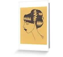 Lisette (Yellow) Greeting Card
