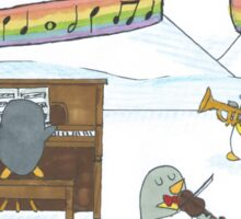 Penguin Musicians  Sticker