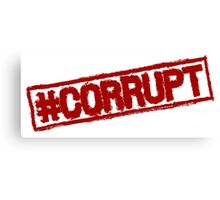 #CORRUPT stamp Canvas Print
