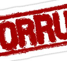 #CORRUPT stamp Sticker
