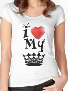 Love My King Women's Fitted Scoop T-Shirt
