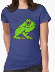 Cartoon Frog Womens Fitted T-Shirt