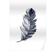 Feather Art Print Room Decoration Illustration Blue Poster Poster