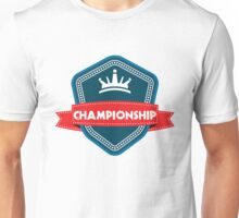 Championship Badge Design Unisex T-Shirt