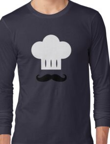 Chef - Mustache, White Hat Long Sleeve T-Shirt