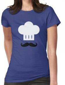 Chef - Mustache, White Hat Womens Fitted T-Shirt