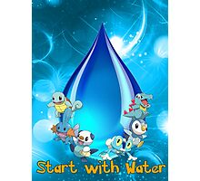 Start with water Photographic Print