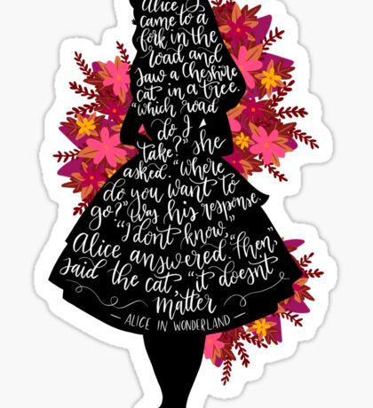 Alice in Wonderland Quote Sticker