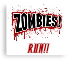 Zombies, Run- Halloween, Walkers Canvas Print