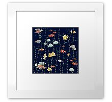 Fish all over Framed Print