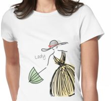 Attractive Lady Womens Fitted T-Shirt