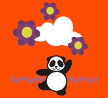 Flowery Panda Dance Kids Tee