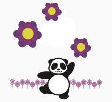 Flowery Panda Dance Kids Clothes