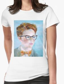 CHILD with GLASSES Womens Fitted T-Shirt