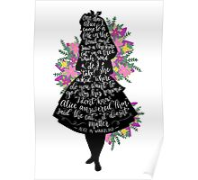 Alice in Wonderland Quote Silloette  Poster
