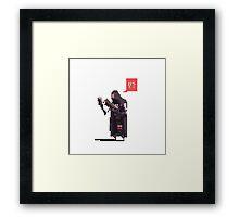 Reaper pixelart Framed Print