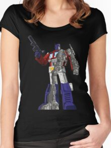 Optimus Prime - Écorché Women's Fitted Scoop T-Shirt
