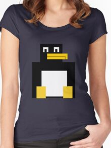 Cubed Penguin Women's Fitted Scoop T-Shirt