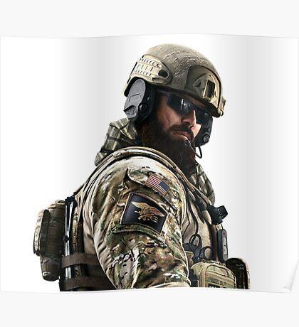 Blackbeard Rainbow 6 Siege - portait Poster